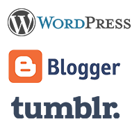 wordpress blogger tumblr